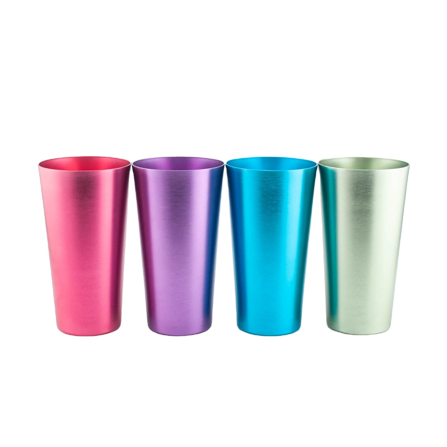 Sustainable Aluminum Drinking Cups Ice Beer Cup Colored Aluminum Tumblers
