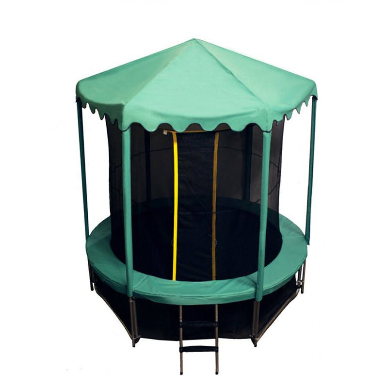 Sundow Outdoor 6Ft Garden Round Fitness Mini Bungee Kids Trampoline Tent