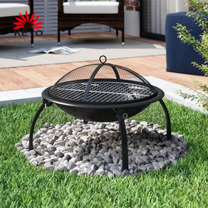 Outdoor Heating Fire Pit Camping Steel Portable Fire Pit With Cooking Grill