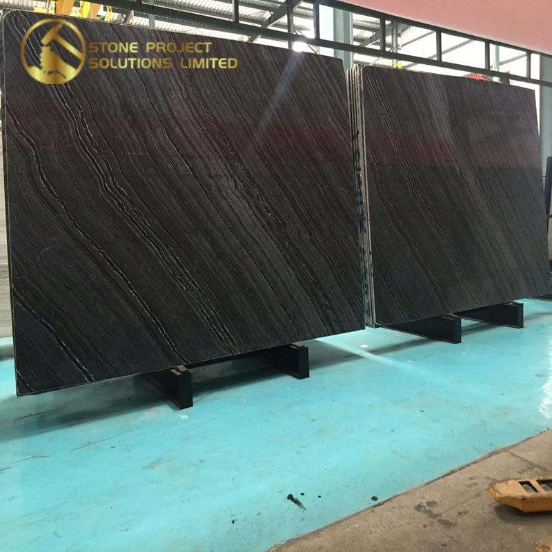 Special Sale Paving Stone 600X600 Black Wood Marble Bathroom Tiles For Hotel Project