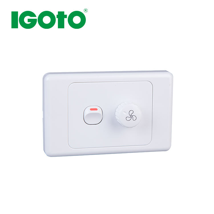 AS329 good price Australian standard Fan speed controller(200W)with wall switch