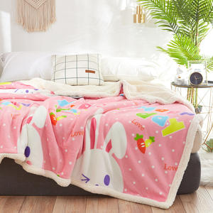 Bright stars winter plush sherpa fleece thickened bedspread super soft flannel blanket for the sofa