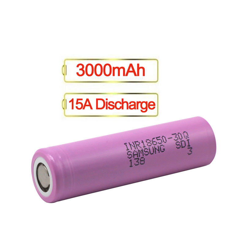18650 Battery 3000mah 18650 30Q 3.7v Lithium-ion Rechargeable Battery