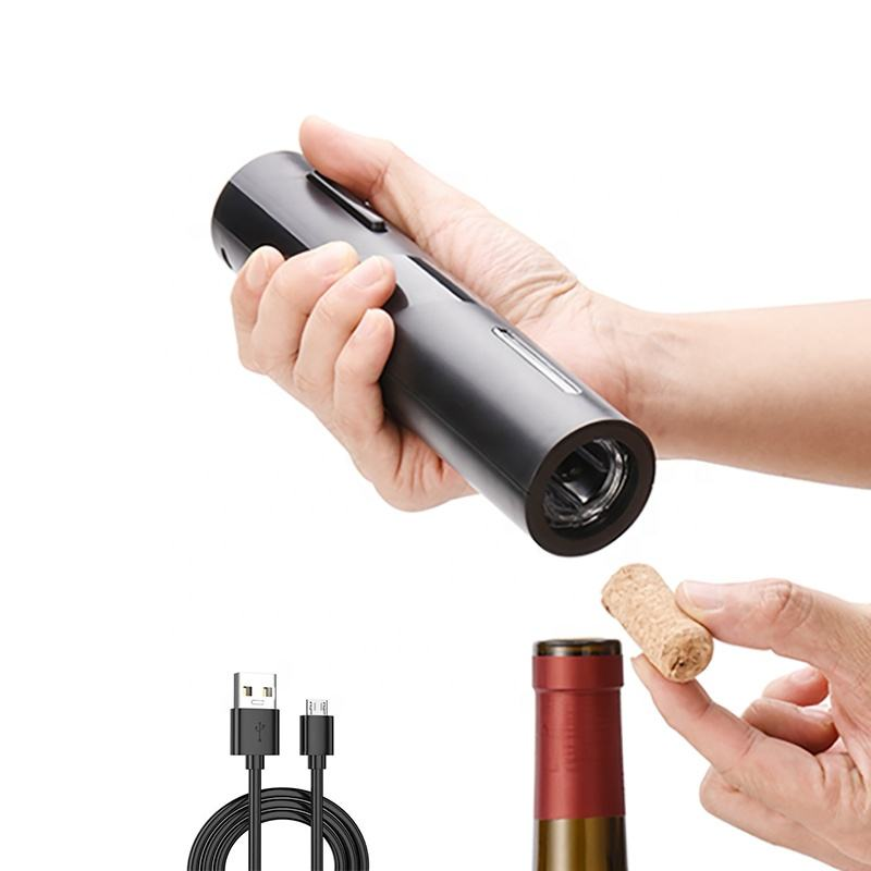 Rechargeable free custom LOGO plastic automatic wine opener electric bottle corkscrew tool