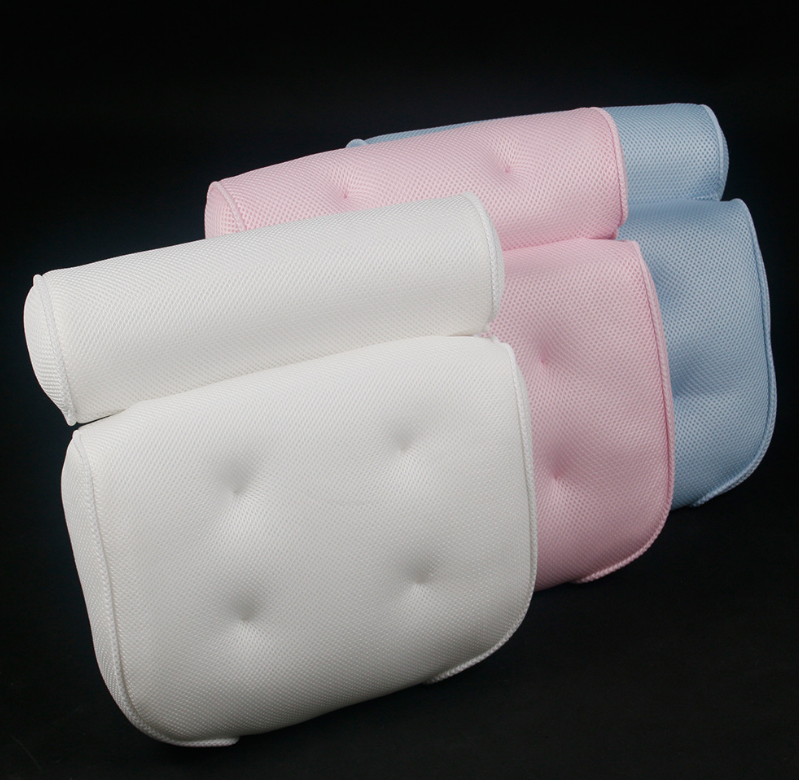 Bath Pillow / Non Slip, Luxury Bathtub Pillow for Your Head & Neck. Anti-Mold & Waterproof. This Spa Cushion has 6 Extra Large