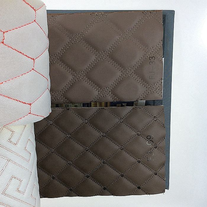 New arrived pvc diamond stitching leather for furniture, auto, seat cover