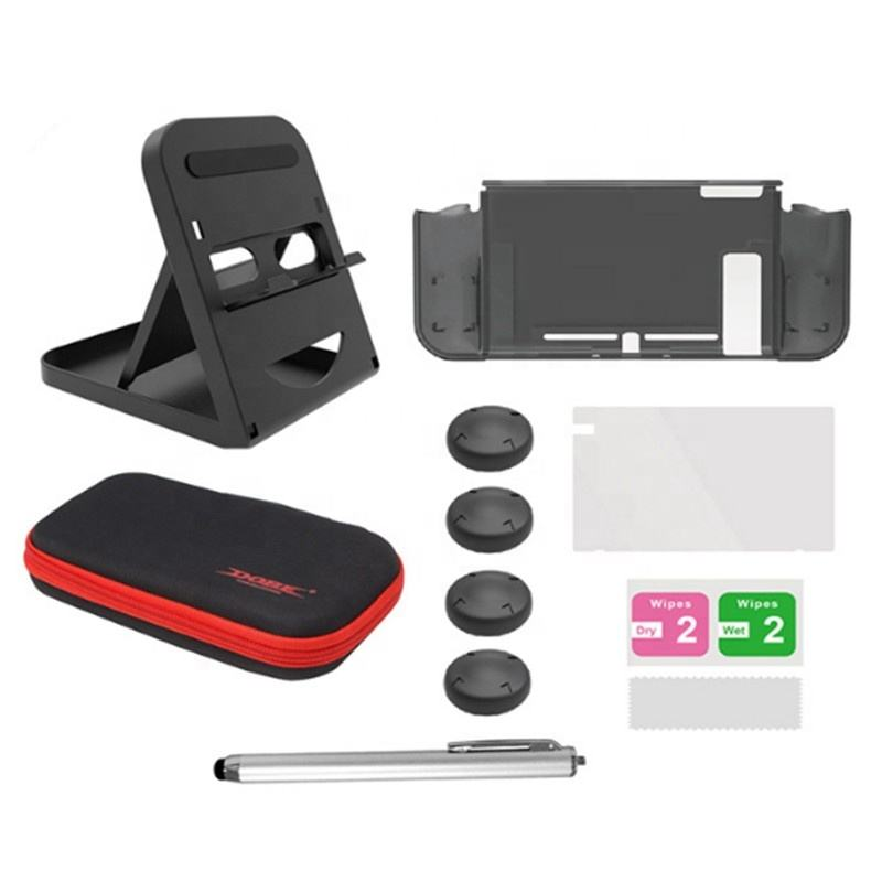 <span class=keywords><strong>6</strong></span> In 1 Super Game Accessoires Kit Opslag Draagtas Screen Film Stylus Play Stand Beschermhoes Voor Nintendo Switch