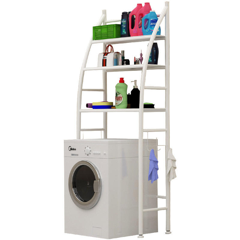 China factory 3 layers metal shelf over washing machine space saving storage rack for bath room