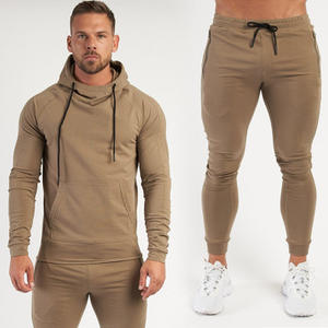 Winter Warm Thick Cotton Training Jogging Suits Wholesale Loose Hoodie Tracksuits for Men Training Fitness Gym Wear