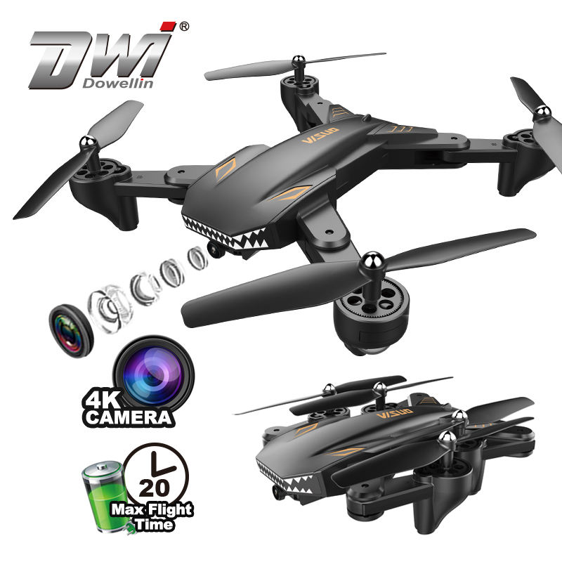 DWI Visuo Fold Camera 20min UAV Drone 4k with Long Flight Time