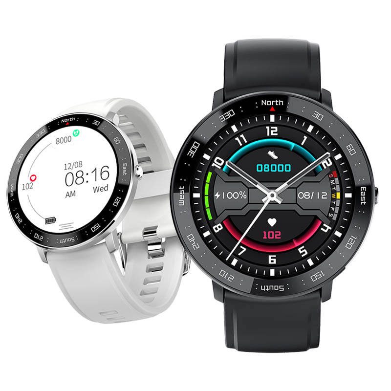 2020 Smart Watch Pria Smart Watch Heart Rate Tekanan Darah Monitor Kebugaran Track Olahraga Jam Tangan