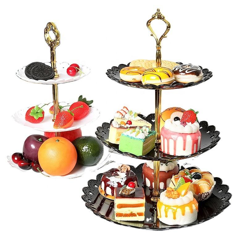QY Fruit plate cake rack kitchen household party dessert storage rack holiday supplies cake accessories dish rack