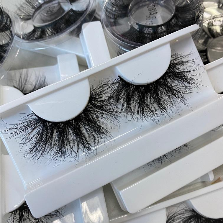Manufacturer Private Label custom package box Real 3D Mink Fur Cruelty-Free Eyelashes with your own logo
