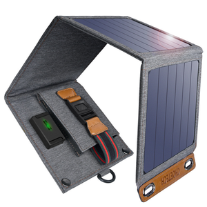 Portable 14W Solar Charger Ponsel, Mini Solar Charger untuk Ponsel Ponsel