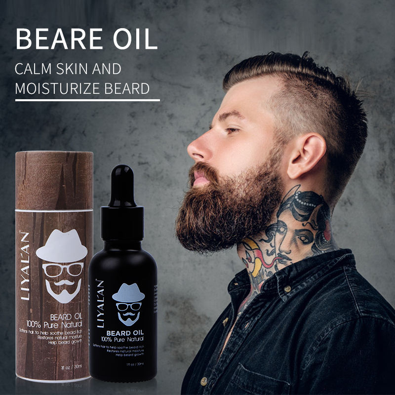 Wholesale Custom Private Label Best Men Care Beard Growing Oil Natural Organic Vegan Beard Growth Oil