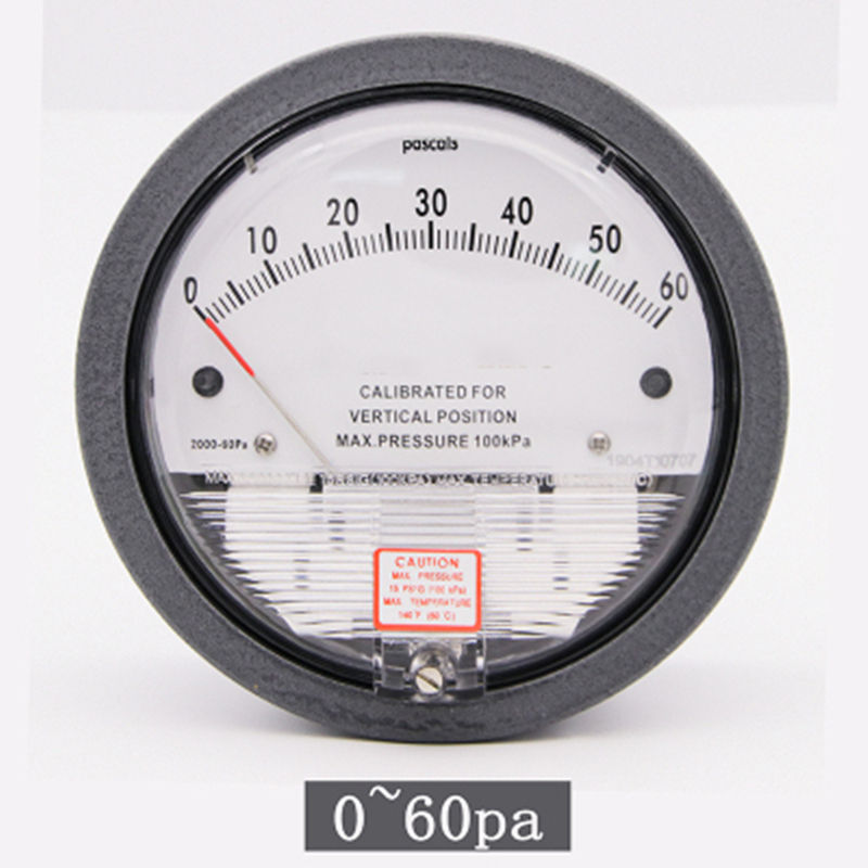 0-60pa aluminum low pressure Magnetic differential pressure gauge for Pharmaceuticals factory various range option