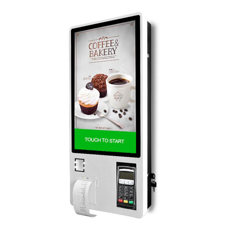 24'' Interactive Touch Screen Self-Service Payment Terminal Kiosk With Thermal Printer and QR Code Scanner