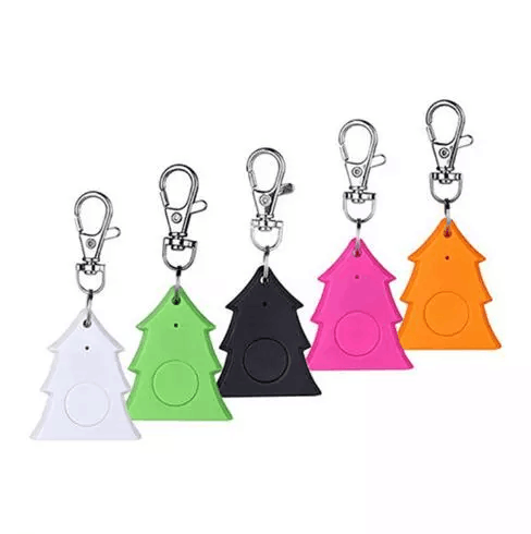 Christmas Tree Shape MINI Keychainของขวัญโปรโมชั่นAnti loss ALARM Tracking Key Finderบลูทูธ