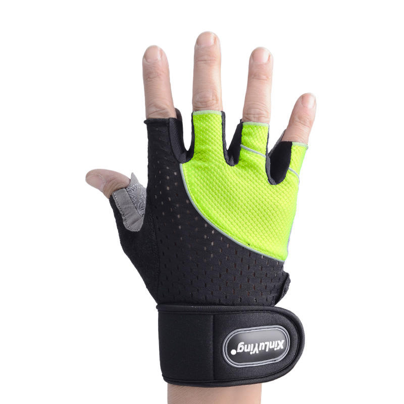 Anti-slip Half Finger Thin Sports Pull Up Bar Fitness Workout Gym Weight lifting Gloves Mittens Guantes Protector Cycling Bike