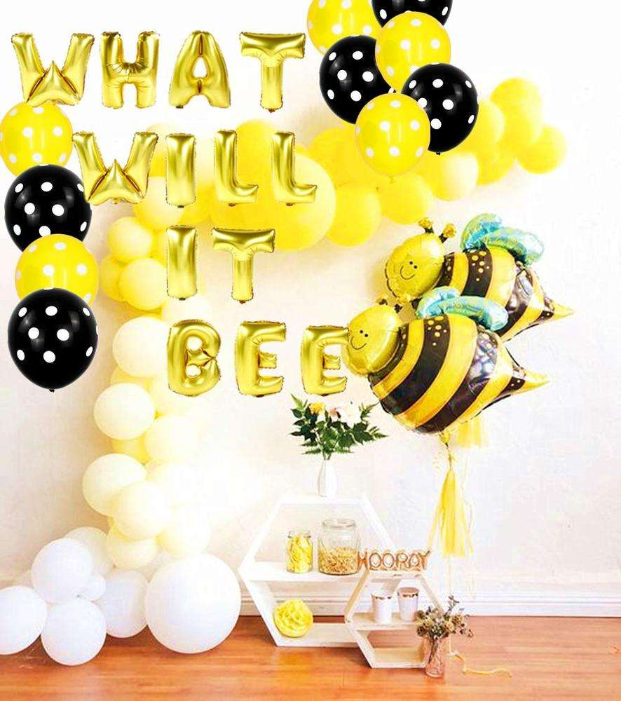 What Will it bee Party Balloons Baby Shower Party Decoration for Gender Reveal Party Decoration