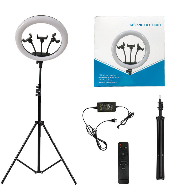 selfie led ring light 14 inch 3 phone holder tiktok ring light with stand For Live Stream Makeup Youtube Video