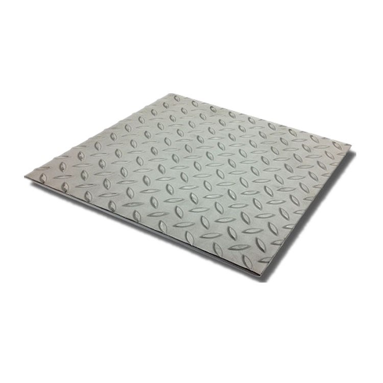 Tangshan supplier rolled hot dipped galvanized steel checkered plate for making profiles