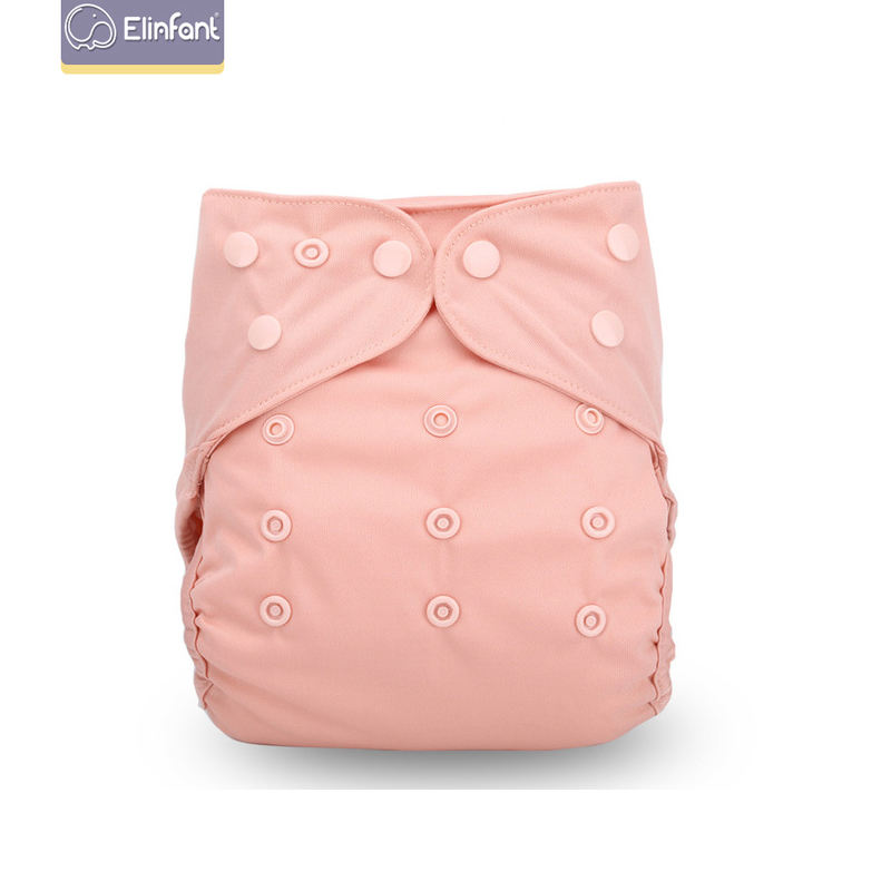 Elinfant Plain Color Waterproof Pul Baby Cloth Diaper Cover Washable Leak-guard Newborn Baby Nappy Cover