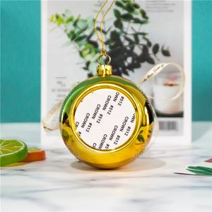 Prosub Sublimation Christmas Ball High Quality Ornament Ball Custom Plastic Christmas Balls For Decoration with Stat