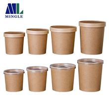 Disposable vasos desechables kraft paper soup cup