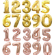 Balloons Wedding Amazon Hot Sell Huge 32 Inch Number Balloons Gold Silver Rose Gold Giant Number Balloons For Wedding Birthday Party Supplier