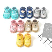 Hot sale Baby Prewalker toddler anti-slip bottom baby girl shoes cartoon baby shoe socks