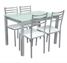 Dinning dinner table set glass dining room furniture with chair