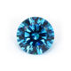 WuZhou Gemstone 5A Round Shape 5-7mm Aquamarine Loose CZ Stone Cubic Zirconia For Jewelry
