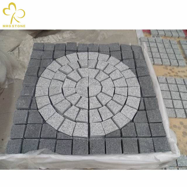 Natural paving cube granite stone floor paver paving bricks