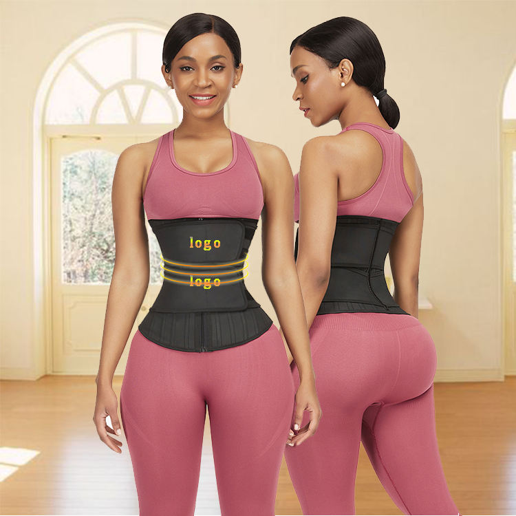Women Tight Fitness Slimming Loose Weight Double Strap Plus Size Latex Waist Trainer Belt