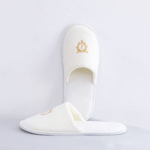 High Quality Velvet Disposable Slipper Open Toe Style Slipper Bedroom Slippers for Hotel