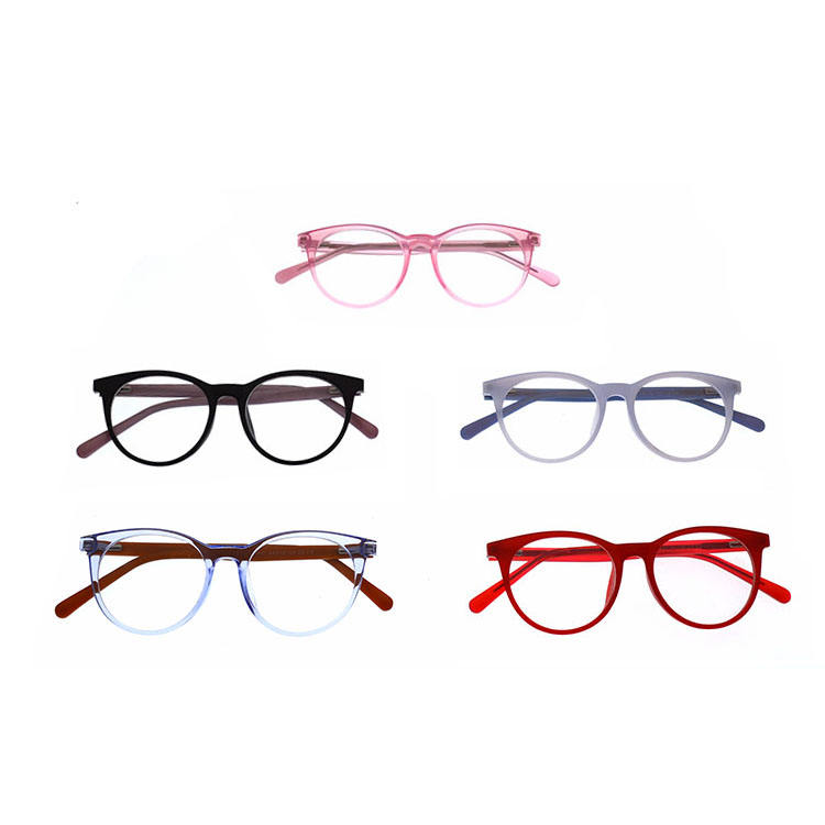 Wholesale Fashion Promotional Model Glasses Optical EyeGlass Acetate Temples Plastic Front Junior Fashion Eyewear For Kids