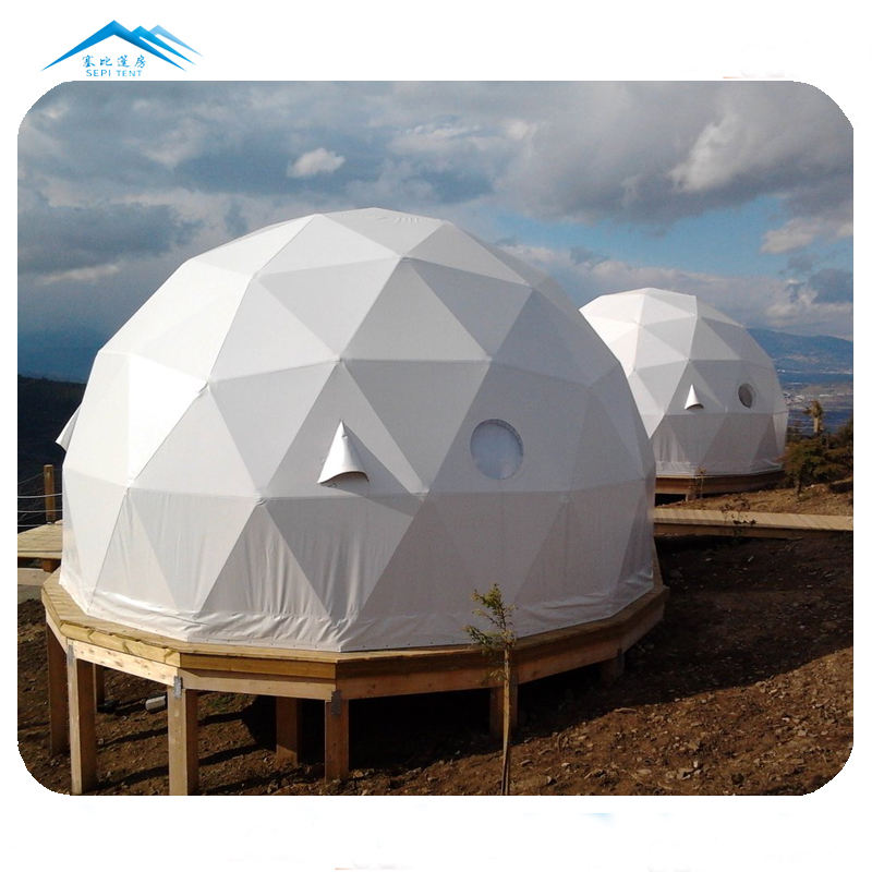 Eco new design outdoor lodging tent camping and glamping luxury hotel glass dome