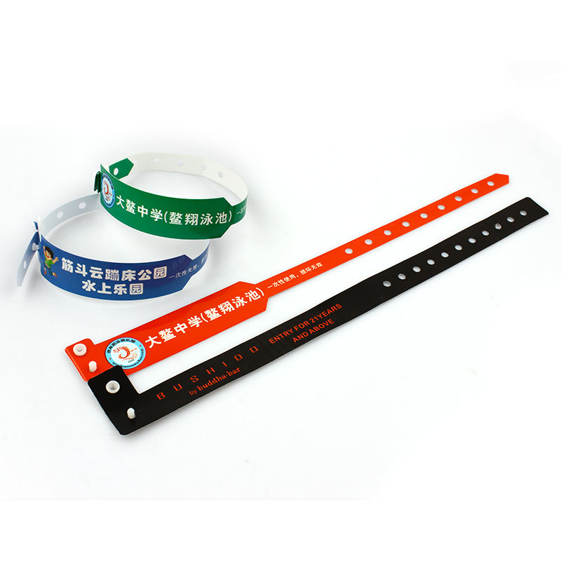 Custom personalized logo one-off printed pvc plastic wristband event