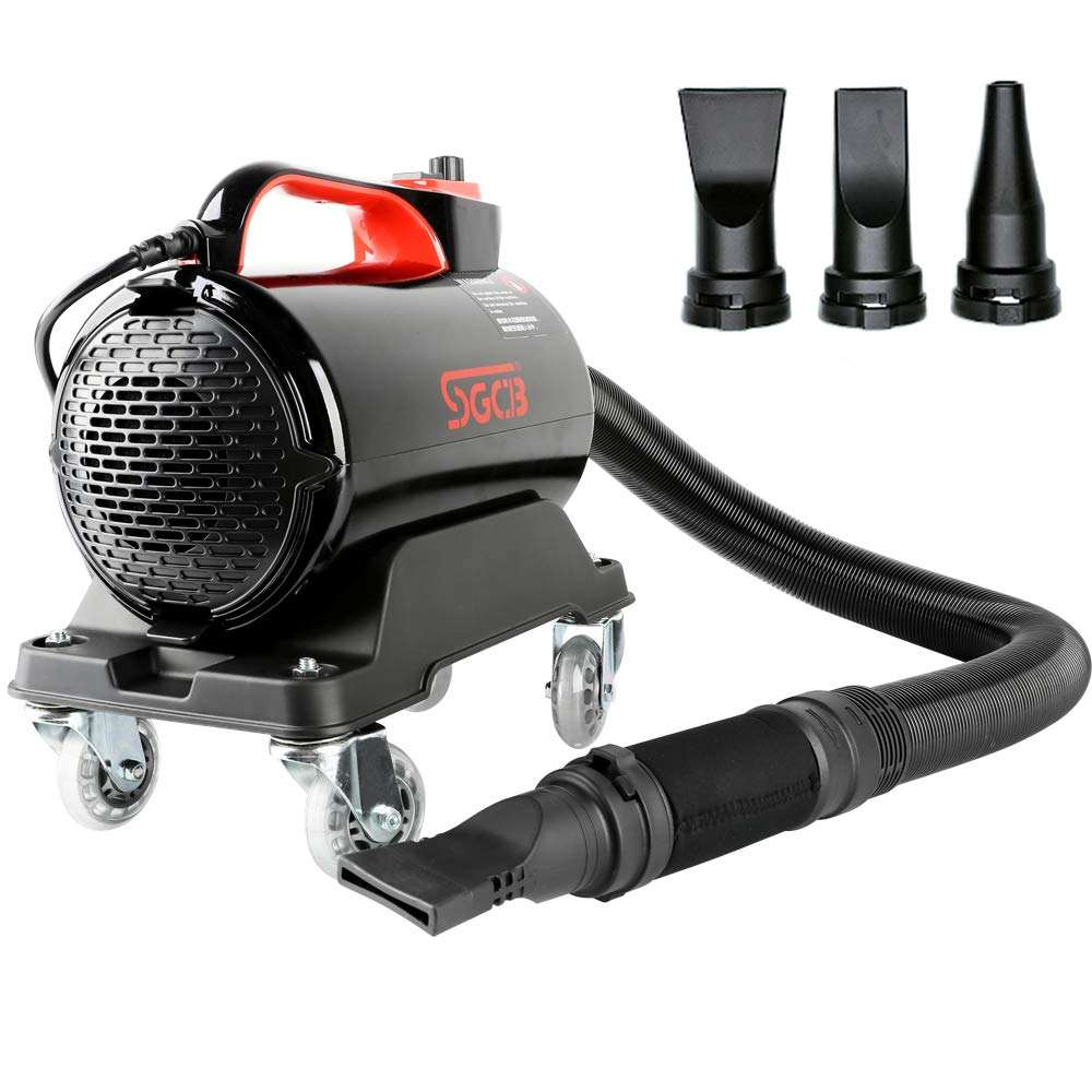 SGCB Air Cannon Blower Car Wash Air Dryer Kit Double Temp Modes with 3 Nozzles & 10Ft Expandable Hose
