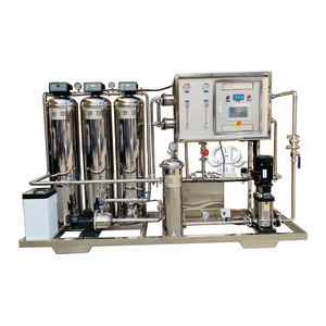 500LPH double stage ro mobile water treatment plant/deionized water