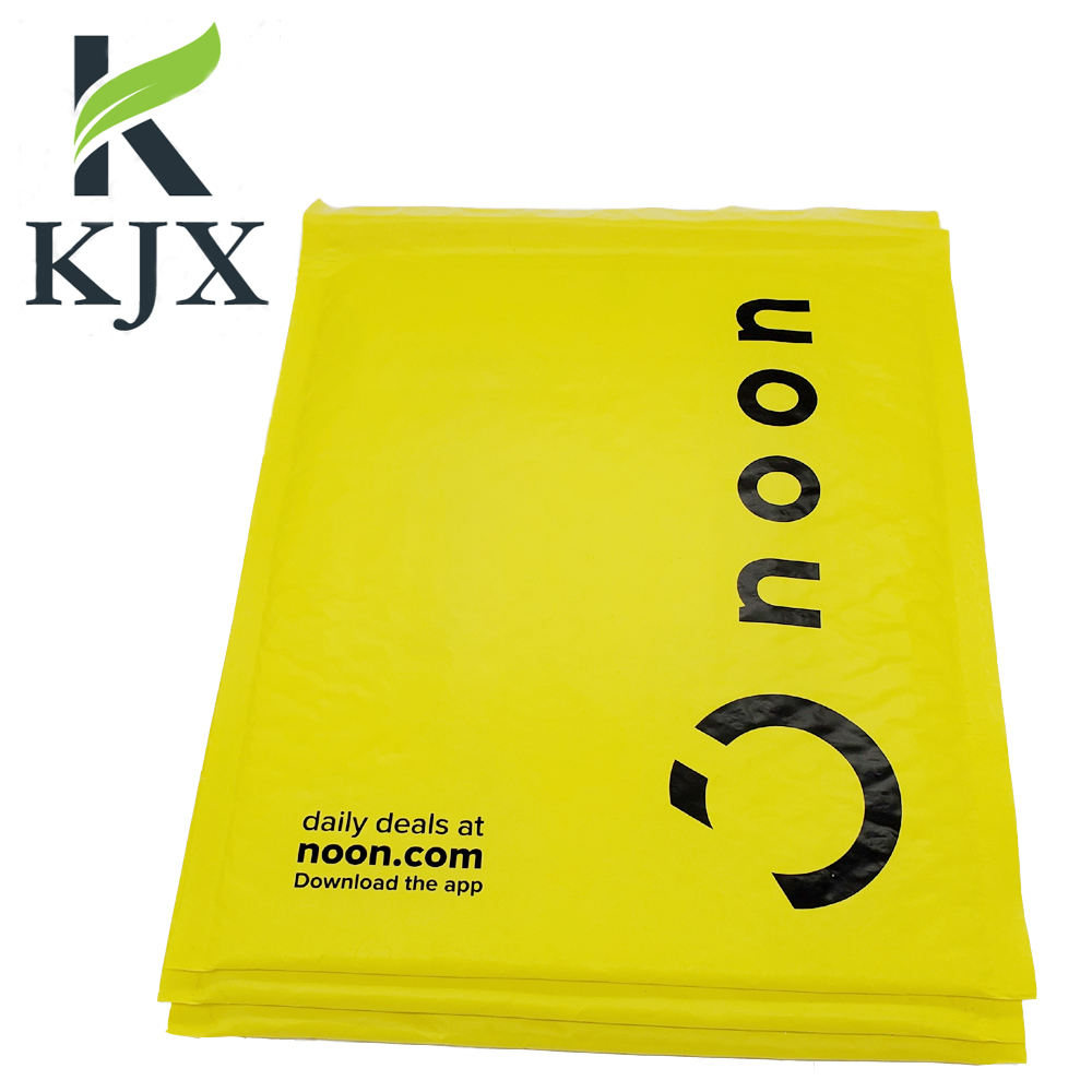 Factory Producing Custom Printing Yellow Poly Bubble Mailer Bubble Envelope Express Shipping Bag #0 India Noon