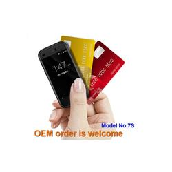 2019 new come 2.54 inch mini card size phone with wifi GPS function model 7S