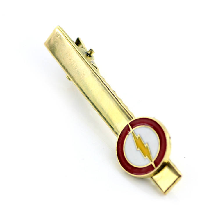 Hot selling Marvel jewelry Superhero Tie clip The Flash Logo Novelty Tie clip for men