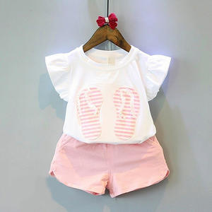 2019 New style childrens clothing kids summer clothes baby girl clothes Short sleeve suit for girls