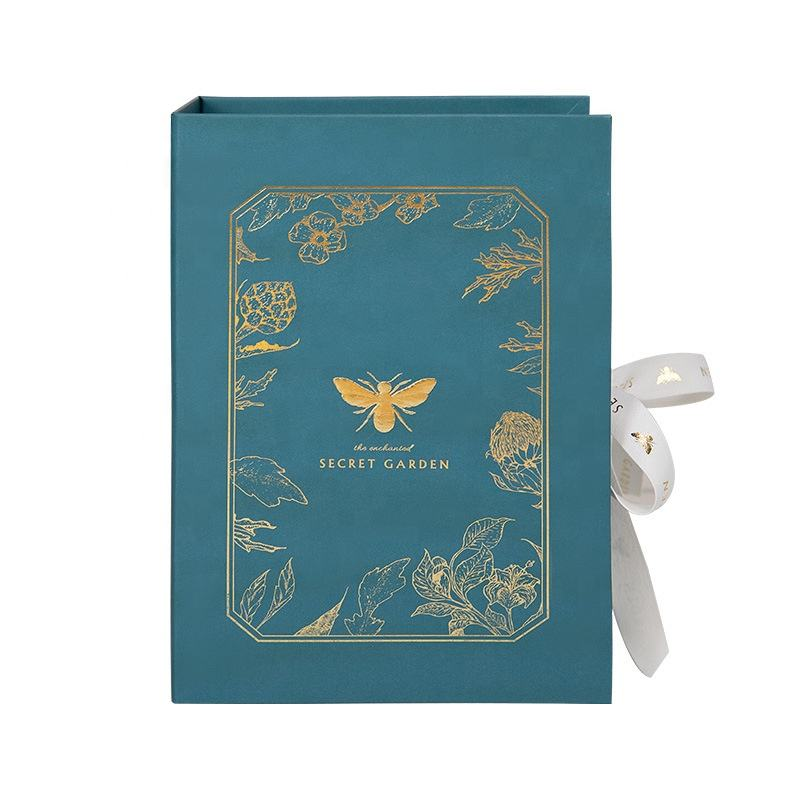 Luxury Wedding Honey Bee Love Packaging Gift Box with Gold Ribbon Custom Lip Gloss Packaging Box Big Gift Boxes Luxury