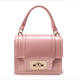 Patent leather small bag female new trendy rivet portable small square bag Korean version of the wild chain shoulder bag