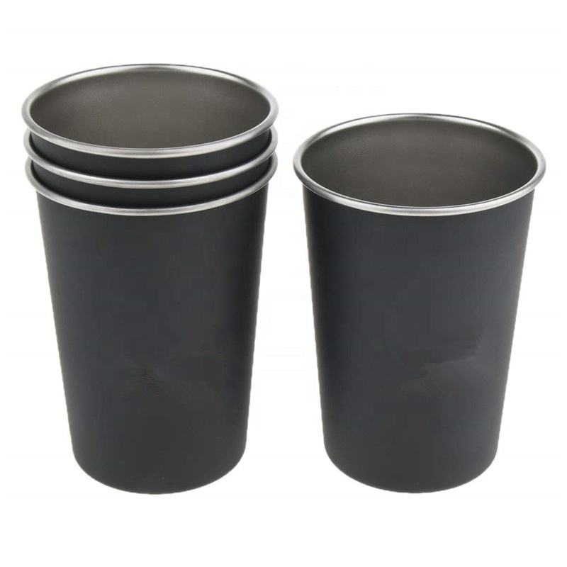 2019 New 12oz Single wall Stainless Steel Premium Metal Cup Stackable Durable Drinking tumbler