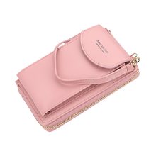 New Baellerry Pure Color Crossbody Mobile Phone Fashion Wallet Bag for Women/Young Girls Small Purse Bag With Shoulder Strap