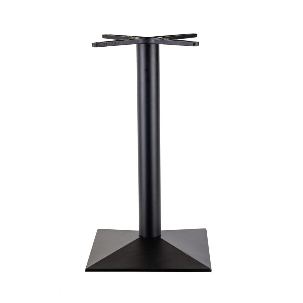 (SP-MTL234)durable strong cast iron table bases with square base cross tray